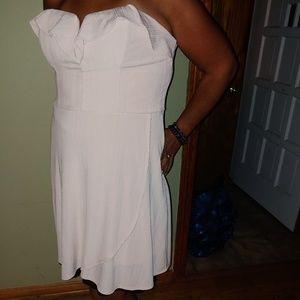Candie's pink strapless dress
